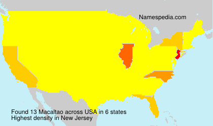 Surname Macaltao in USA