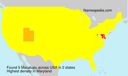 Surname Macalupu in USA