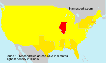 Surname Macandrews in USA