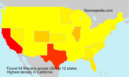 Surname Macaria in USA