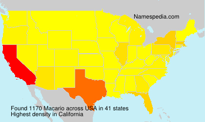 Surname Macario in USA