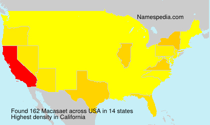 Surname Macasaet in USA