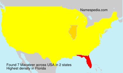 Surname Macateer in USA