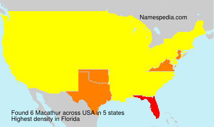 Surname Macathur in USA