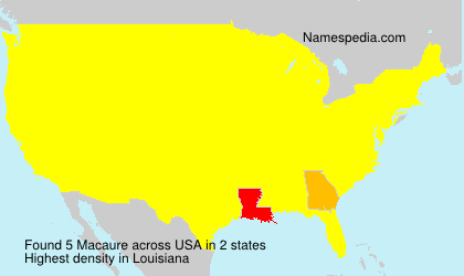 Surname Macaure in USA
