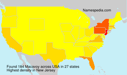 Surname Macavoy in USA