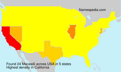 Surname Macawili in USA