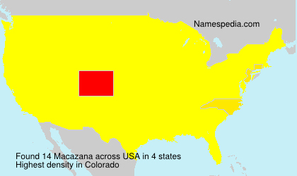 Surname Macazana in USA
