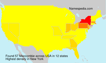 Surname Maccombie in USA