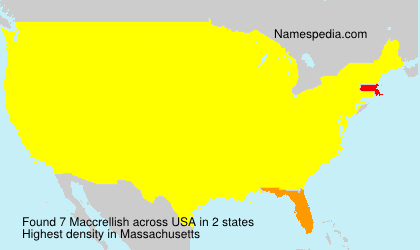 Surname Maccrellish in USA