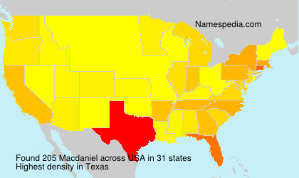 Surname Macdaniel in USA