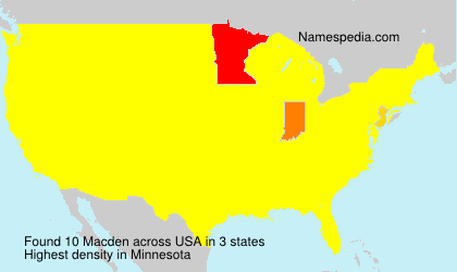Surname Macden in USA