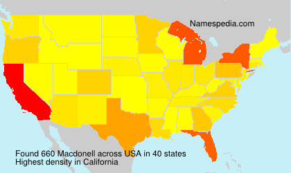 Surname Macdonell in USA