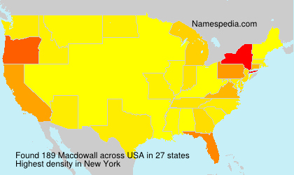 Surname Macdowall in USA