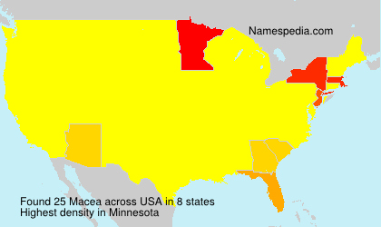 Surname Macea in USA