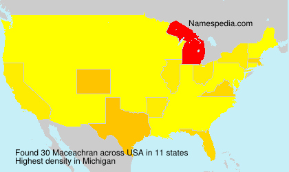 Surname Maceachran in USA