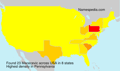 Surname Macecevic in USA