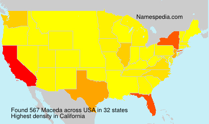 Surname Maceda in USA