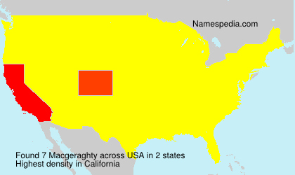 Surname Macgeraghty in USA