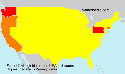 Surname Macginitie in USA