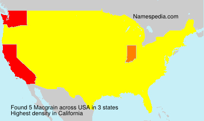 Surname Macgrain in USA