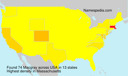 Surname Macgray in USA