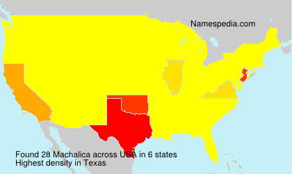 Surname Machalica in USA
