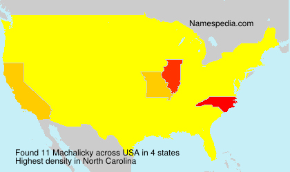 Surname Machalicky in USA