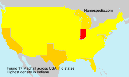 Surname Machall in USA