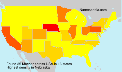 Surname Machar in USA