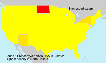 Surname Machayya in USA