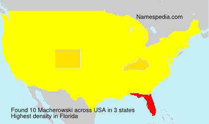 Surname Macherowski in USA