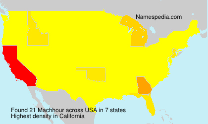 Surname Machhour in USA