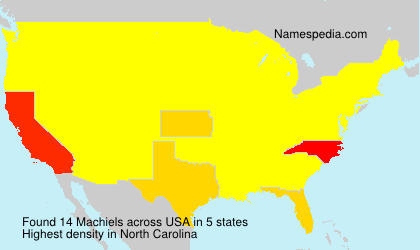 Surname Machiels in USA