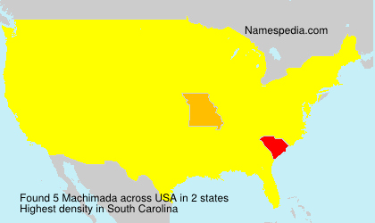 Surname Machimada in USA