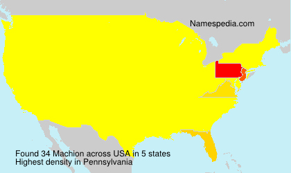 Surname Machion in USA