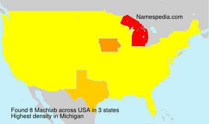 Surname Machlab in USA