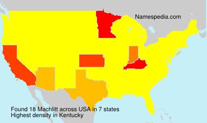 Surname Machlitt in USA