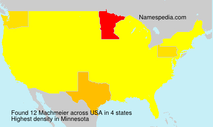 Surname Machmeier in USA