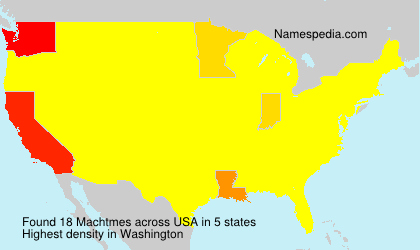 Surname Machtmes in USA