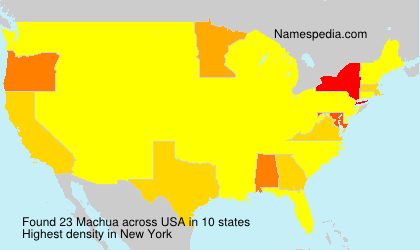 Surname Machua in USA