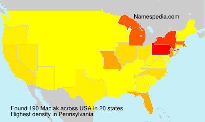Surname Maciak in USA