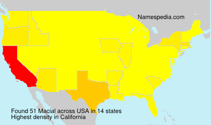 Surname Macial in USA