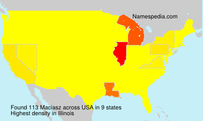 Surname Maciasz in USA