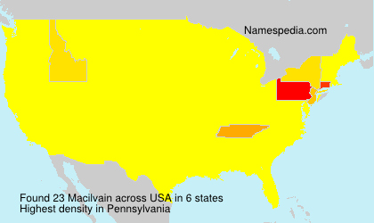 Surname Macilvain in USA