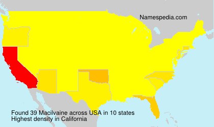 Surname Macilvaine in USA