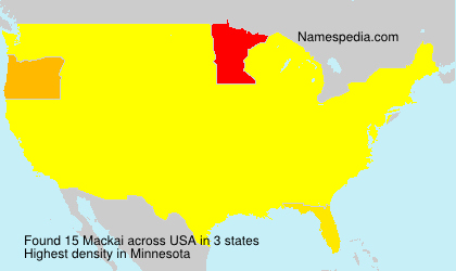 Surname Mackai in USA