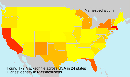 Surname Mackechnie in USA