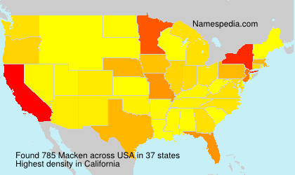 Surname Macken in USA