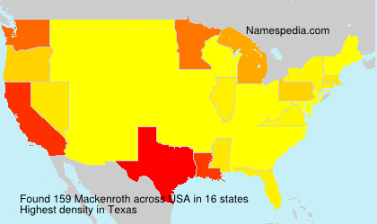 Surname Mackenroth in USA